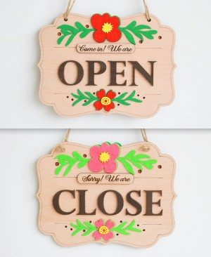 open close hoa dạ